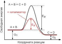 влияние катализатора на энергию активации