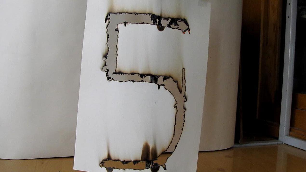 рисунок огнем