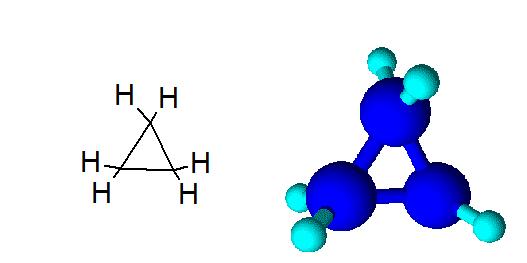 Строение циклопропана
