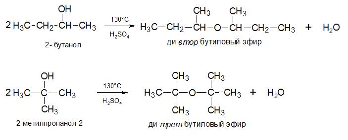 Межмолекулярная дегидратация 2-бутанола